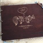 Guestbook for Wedding or Christening with engraved wooden covers - gallery