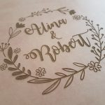 Guestbook for Wedding or Christening with engraved leather covers GBP1 - gallery