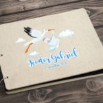 Guestbook for Wedding or Christening with wooden covers UV printed - gallery