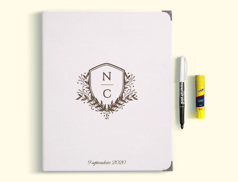 Guestbook for Wedding or Christening with engraved leather covers GBP1
