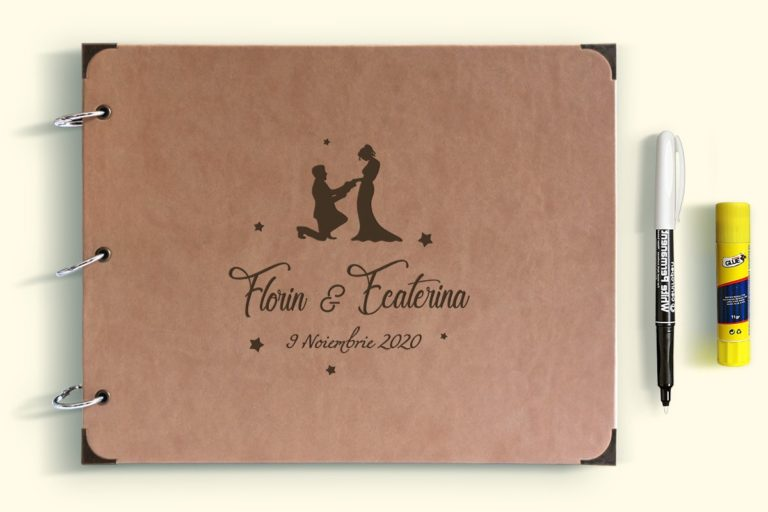 Guestbook for Wedding or Christening with engraved leather covers GBP3