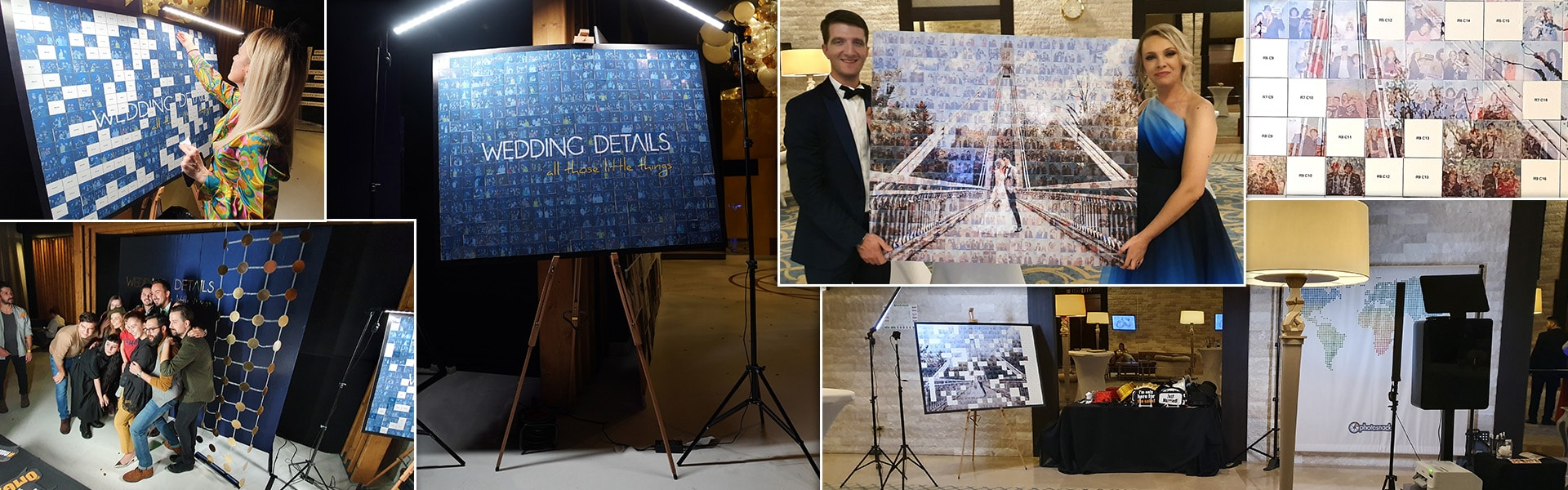 Mosaic Wall pentru photo booth la evenimente private si corporate